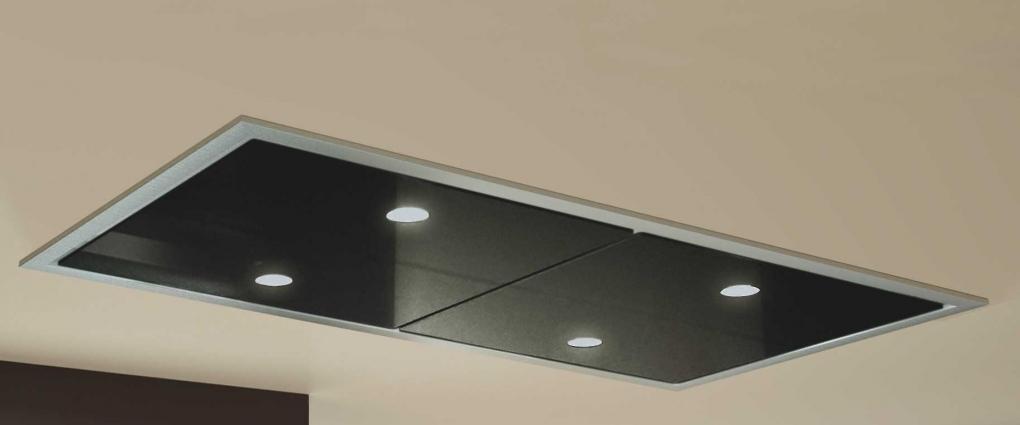 Carina zwart 120 cm plafond afzuigkap design afzuigkappen - Plafond geverfd zwart ...